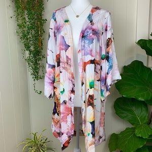 Piyama Floral Daisy Kimono Robe
